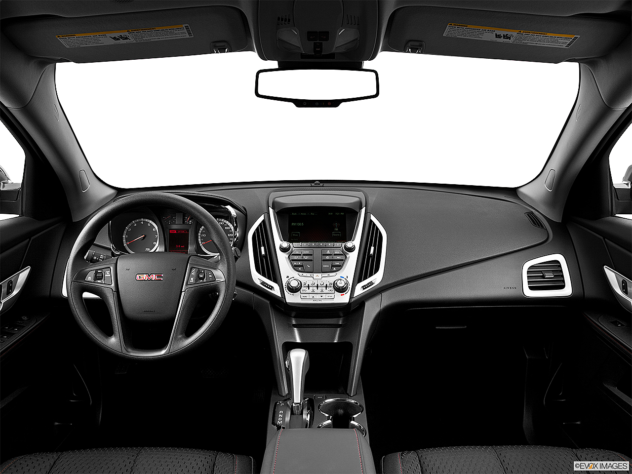 2013 GMC Terrain SLE-1, centered wide dash shot