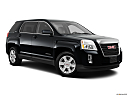 2013 GMC Terrain SLE-1, front passenger 3/4 w/ wheels turned.