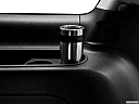 2013 GMC Yukon Denali, third row side cup holder with coffee prop.
