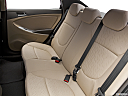 2013 Hyundai Accent GLS, rear seats from drivers side.