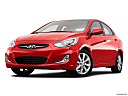 2013 Hyundai Accent GLS, front angle view, low wide perspective.
