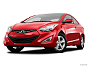 2013 Hyundai Elantra Coupe GS, front angle view, low wide perspective.
