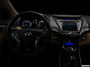 "2013 Hyundai Elantra Limited, centered wide dash shot - ""night"" shot."