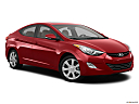 2013 Hyundai Elantra Limited, front passenger 3/4 w/ wheels turned.