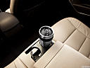 2013 Hyundai Santa Fe Sport 2.0T, third row center cup holder with coffee prop.