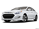 2013 Hyundai Sonata Hybrid Limited, front angle view, low wide perspective.