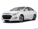 2013 Hyundai Sonata Hybrid Limited, front angle medium view.