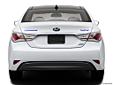 2013 Hyundai Sonata Hybrid Limited, low/wide rear.