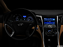 "2013 Hyundai Sonata Hybrid Limited, centered wide dash shot - ""night"" shot."