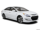 2013 Hyundai Sonata Hybrid Limited, front passenger 3/4 w/ wheels turned.