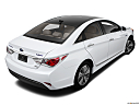 2013 Hyundai Sonata Hybrid Limited, rear 3/4 angle view.