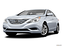 2013 Hyundai Sonata GLS, front angle view, low wide perspective.