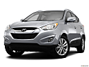 2013 Hyundai Tucson Limited, front angle view, low wide perspective.