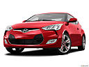 2013 Hyundai Veloster, front angle view, low wide perspective.