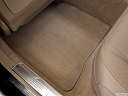 2013 Mercedes-Benz S-Class S550, rear driver's side floor mat. mid-seat level from outside looking in.