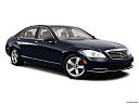 2013 Mercedes-Benz S-Class S550, front passenger 3/4 w/ wheels turned.