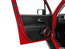 2015 Jeep Renegade Trailhawk, inside of driver's side open door, window open.