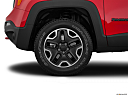 2015 Jeep Renegade Trailhawk, front drivers side wheel at profile.