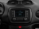 2015 Jeep Renegade Trailhawk, closeup of radio head unit
