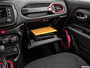 2015 Jeep Renegade Trailhawk, glove box open.