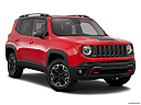2015 Jeep Renegade Trailhawk, front passenger 3/4 w/ wheels turned.