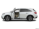 2016 Acura MDX, driver's side profile with drivers side door open.