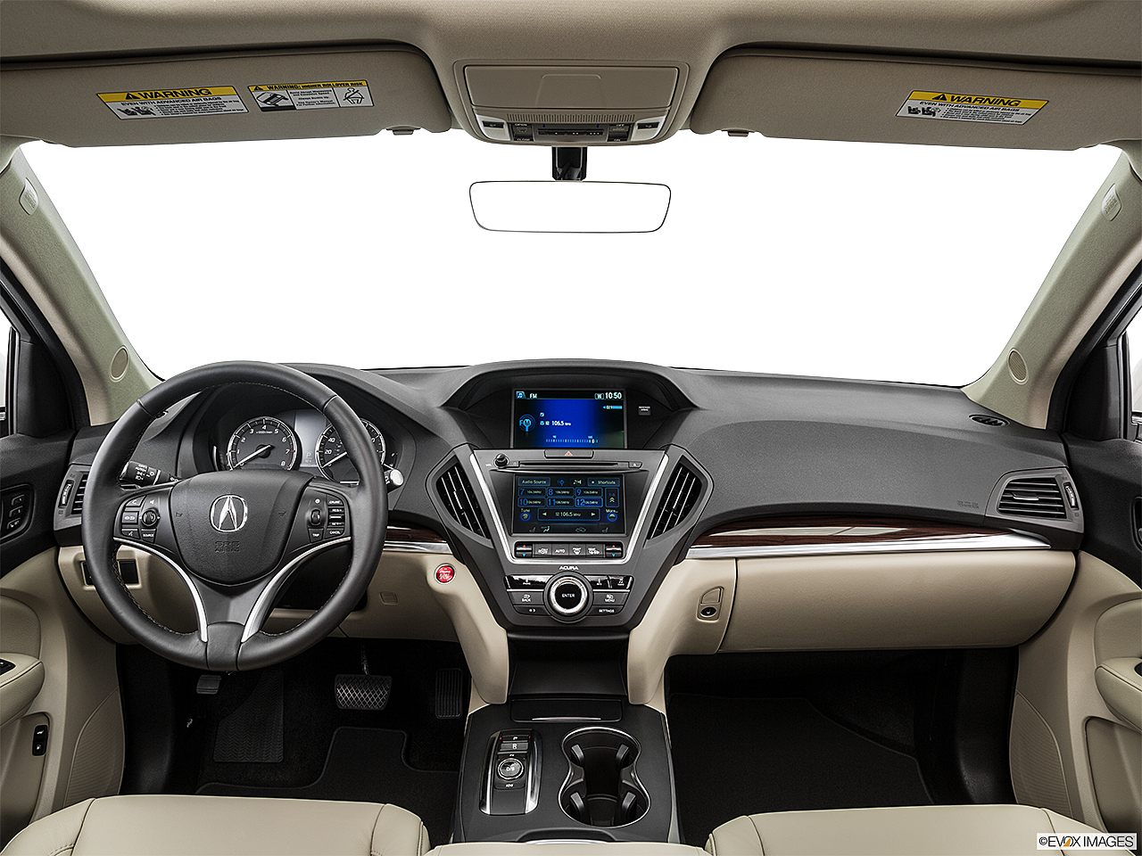 2016 Acura MDX, centered wide dash shot