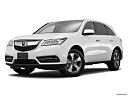 2016 Acura MDX, front angle medium view.