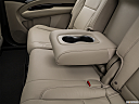 2016 Acura MDX, rear center console with closed lid from driver's side looking down.