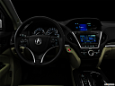 "2016 Acura MDX, centered wide dash shot - ""night"" shot."