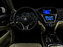 "2016 Acura MDX SH-AWD, centered wide dash shot - ""night"" shot."