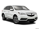 2016 Acura MDX SH-AWD, front passenger 3/4 w/ wheels turned.