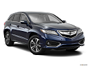 2016 Acura RDX AWD, front passenger 3/4 w/ wheels turned.