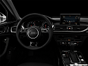"2016 Audi A6 Premium Plus, centered wide dash shot - ""night"" shot."
