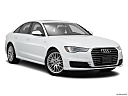 2016 Audi A6 Premium Plus, front passenger 3/4 w/ wheels turned.