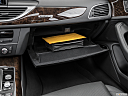 2016 Audi A6 Prestige, glove box open.