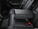 2016 Audi A6 Prestige, rear center console with closed lid from driver's side looking down.