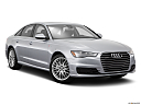 2016 Audi A6 Prestige, front passenger 3/4 w/ wheels turned.