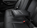 2016 BMW 3-series 330e, rear center console with closed lid from driver's side looking down.