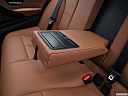 2016 BMW 3-series 340i, rear center console with closed lid from driver's side looking down.