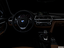 "2016 BMW 3-series 340i, centered wide dash shot - ""night"" shot."