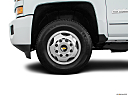 2016 Chevrolet Silverado 3500HD High Country Dual Rear Wheel, front drivers side wheel at profile.