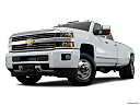 2016 Chevrolet Silverado 3500HD High Country Dual Rear Wheel, front angle view, low wide perspective.