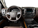 2016 Chevrolet Silverado 3500HD High Country Dual Rear Wheel, steering wheel/center console.
