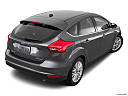 2016 Ford Focus Titanium, rear 3/4 angle view.