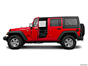 2016 Jeep Wrangler Unlimited Sport, driver's side profile with drivers side door open.