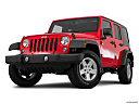 2016 Jeep Wrangler Unlimited Sport, front angle view, low wide perspective.