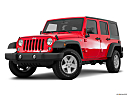 2016 Jeep Wrangler Unlimited Sport, front angle medium view.