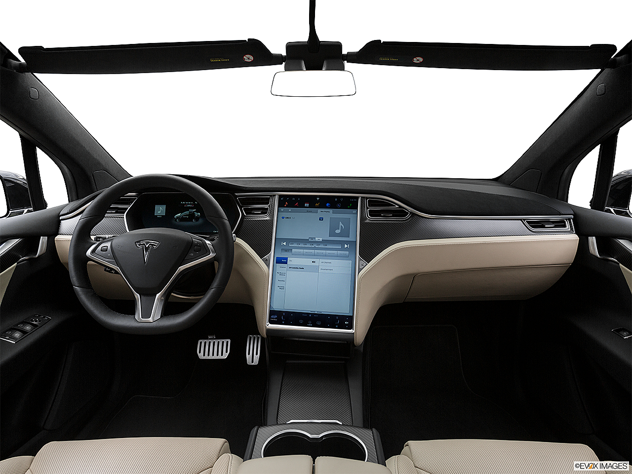 2016 Tesla Model X P90d Centered Wide Dash Shot