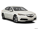 2017 Acura TLX 2.4 8-DCP P-AWS, front passenger 3/4 w/ wheels turned.